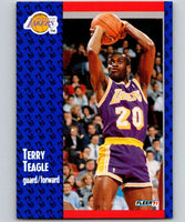 1991-92 Fleer #103 Terry Teagle Lakers NBA Basketball