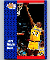 1991-92 Fleer #104 James Worthy Lakers NBA Basketball