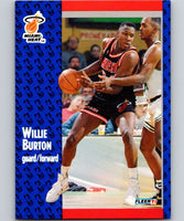 1991-92 Fleer #105 Willie Burton Heat NBA Basketball
