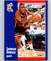 1991-92 Fleer #107 Sherman Douglas Heat NBA Basketball