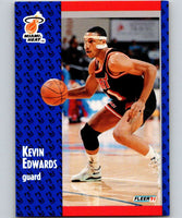 1991-92 Fleer #108 Kevin Edwards Heat NBA Basketball