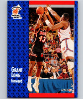 1991-92 Fleer #109 Grant Long Heat NBA Basketball