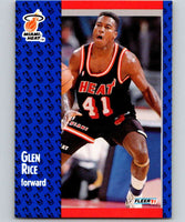 1991-92 Fleer #111 Glen Rice Heat NBA Basketball