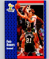 1991-92 Fleer #117 Fred Roberts Bucks NBA Basketball