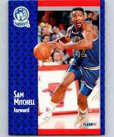 1991-92 Fleer #123 Sam Mitchell Timberwolves NBA Basketball
