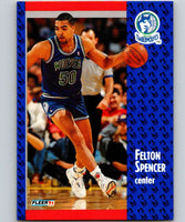 1991-92 Fleer #127 Felton Spencer Timberwolves NBA Basketball