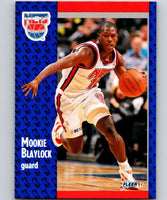 1991-92 Fleer #128 Mookie Blaylock NJ Nets NBA Basketball
