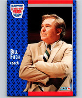 1991-92 Fleer #132 Bill Fitch NJ Nets CO NBA Basketball
