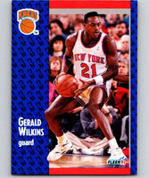 1991-92 Fleer #142 Gerald Wilkins Knicks NBA Basketball