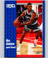 1991-92 Fleer #143 Nick Anderson Magic NBA Basketball