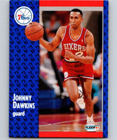 1991-92 Fleer #152 Johnny Dawkins 76ers NBA Basketball