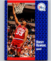 1991-92 Fleer #154 Hersey Hawkins 76ers NBA Basketball