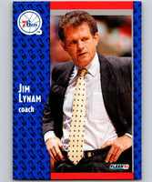 1991-92 Fleer #155 Jim Lynam 76ers CO NBA Basketball