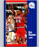 1991-92 Fleer #156 Rick Mahorn 76ers NBA Basketball