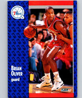 1991-92 Fleer #157 Brian Oliver 76ers NBA Basketball