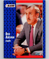 1991-92 Fleer #166 Rick Adelman Blazers CO NBA Basketball