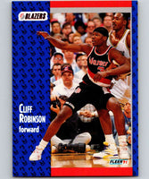 1991-92 Fleer #172 Cliff Robinson Blazers NBA Basketball