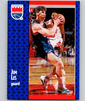 1991-92 Fleer #176 Jim Les RC Rookie Sac Kings NBA Basketball