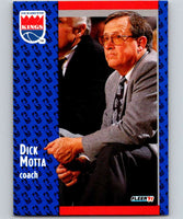 1991-92 Fleer #178 Dick Motta Sac Kings CO NBA Basketball