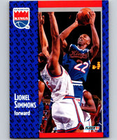 1991-92 Fleer #179 Lionel Simmons Sac Kings NBA Basketball