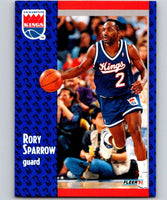 1991-92 Fleer #180 Rory Sparrow Sac Kings NBA Basketball