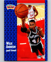 1991-92 Fleer #182 Willie Anderson Spurs NBA Basketball