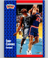 1991-92 Fleer #184 Terry Cummings Spurs NBA Basketball