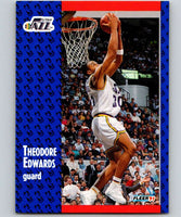 1991-92 Fleer #199 Blue Edwards Jazz NBA Basketball