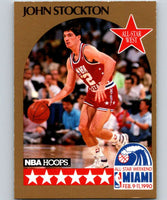 1990-91 Hoops #25 John Stockton SP Jazz AS NBA Basketball