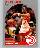 1990-91 Hoops #27 John Battle Hawks NBA Basketball