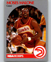 1990-91 Hoops #31 Moses Malone Hawks NBA Basketball