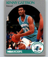 1990-91 Hoops #53 Kenny Gattison RC Rookie Hornets NBA Basketball