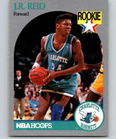 1990-91 Hoops #57 J.R. Reid RC Rookie Hornets NBA Basketball
