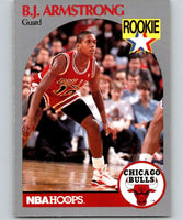 1990-91 Hoops #60 B.J. Armstrong RC Rookie Bulls NBA Basketball