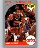 1990-91 Hoops #70 Winston Bennett RC Rookie Cavaliers NBA Basketball