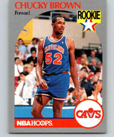1990-91 Hoops #71 Chucky Brown RC Rookie Cavaliers NBA Basketball