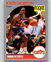 1990-91 Hoops #77 John Morton RC Rookie Cavaliers NBA Basketball