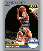 1990-91 Hoops #98 Todd Lichti RC Rookie Nuggets NBA Basketball