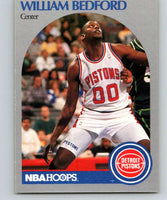 1990-91 Hoops #102 William Bedford RC Rookie Pistons NBA Basketball