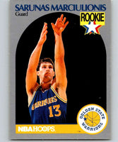 1990-91 Hoops #115 Sarunas Marciulionis RC Rookie Warriors NBA Basketball