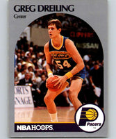 1990-91 Hoops #132 Greg Dreiling RC Rookie Pacers NBA Basketball