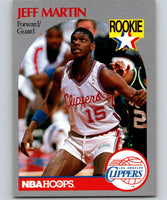 1990-91 Hoops #148 Jeff Martin RC Rookie Clippers NBA Basketball