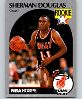 1990-91 Hoops #164 Sherman Douglas RC Rookie Heat NBA Basketball