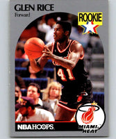 1990-91 Hoops #168 Glen Rice RC Rookie Heat NBA Basketball