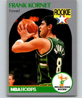 1990-91 Hoops #176 Frank Kornet RC Rookie Bucks NBA Basketball