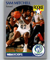 1990-91 Hoops #188 Sam Mitchell RC Rookie Timberwolves NBA Basketball