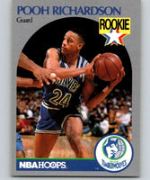1990-91 Hoops #190 Pooh Richardson RC Rookie Timberwolves NBA Basketball