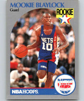 1990-91 Hoops #193 Mookie Blaylock RC Rookie NJ Nets NBA Basketball