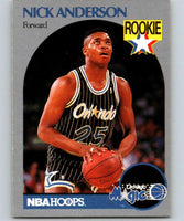 1990-91 Hoops #214 Nick Anderson RC Rookie Magic NBA Basketball