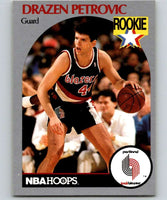 1990-91 Hoops #248 Drazen Petrovic RC Rookie Blazers NBA Basketball